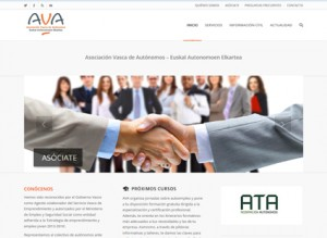 Página web de la Asociación Vasca de Autónomos