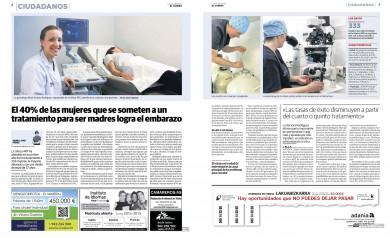 Reportaje El Correo sobre la Clínica ART Vitoria